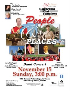 "Fall Concert, ""People and Places"" 3PM Sun, November 15, 2015"